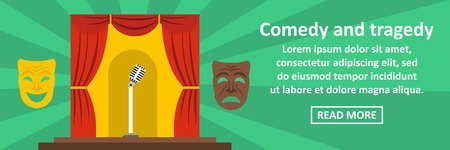 Comedy and tragedy concept for banner template