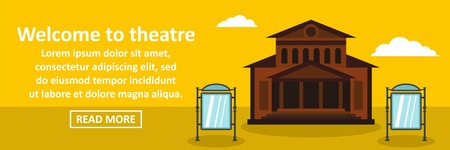 Concept of Welcome to theatre banner template Illustration
