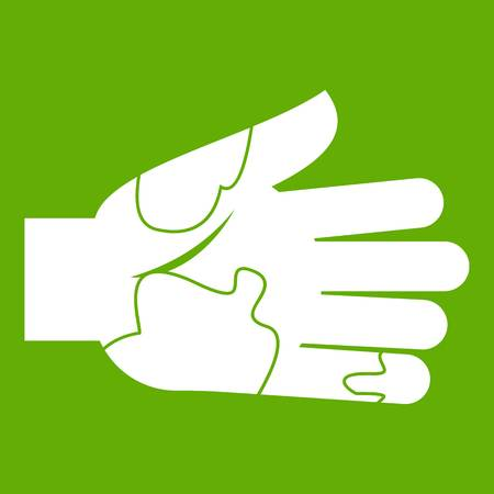 Hand with stains icon green Illustration