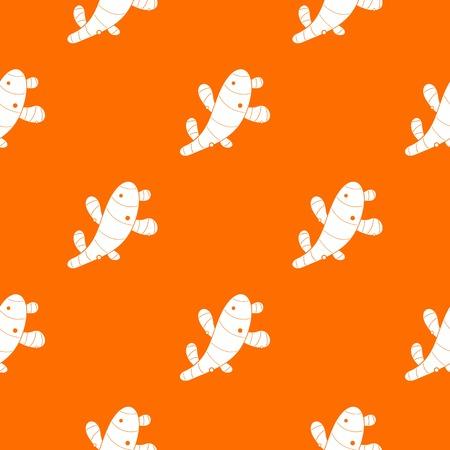 Ginger pattern seamless vector illustration.