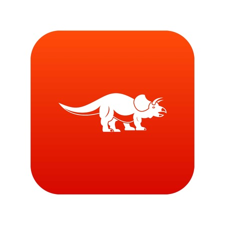 Styracosaurus icon digital red vector illustration.
