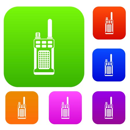 Portable handheld radio set collection