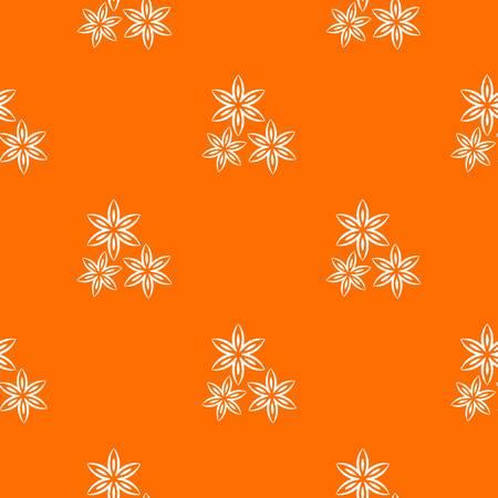 Star anise seamless pattern
