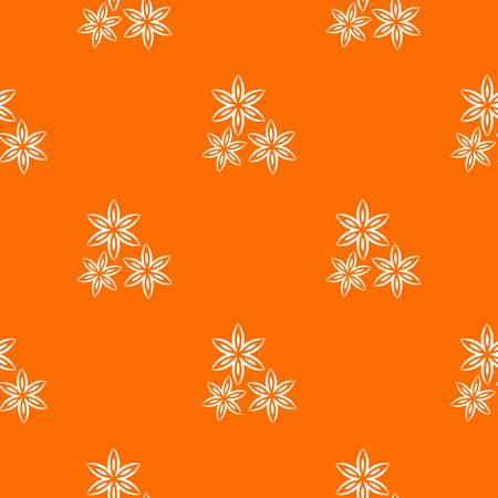 Star anise seamless pattern