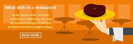 Meat dish in a restaurant banner horizontal concept