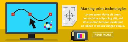 Marking print technologies banner horizontal concept