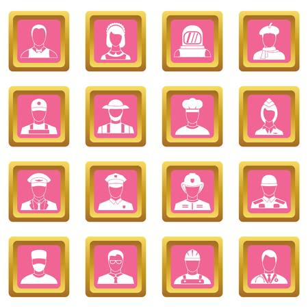Professions icons pink