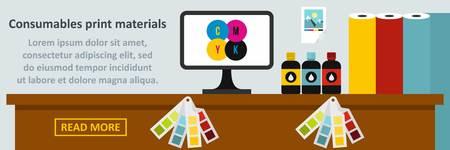 Consumables print materials banner horizontal concept