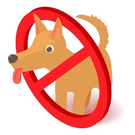 No dog icon. Isometric illustration of no dog vector icon for web