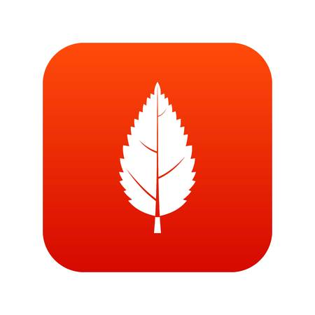 Hornbeam leaf icon digital red for any design isolated on white vector illustration