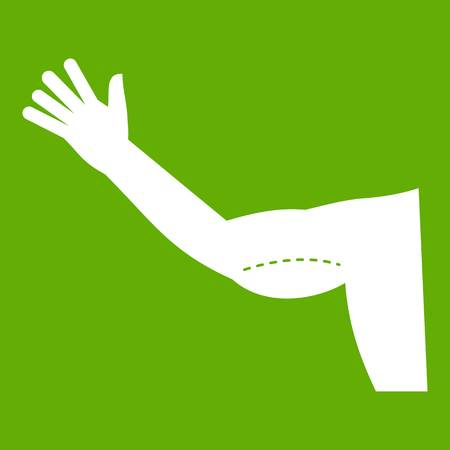 Flabby arm cosmetic correction icon green