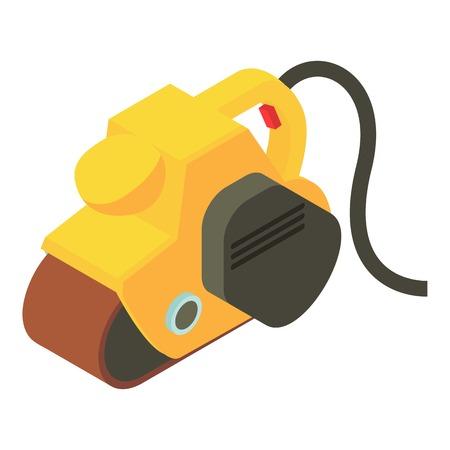 planos electricos: Icono de avión de gato amarillo. Ilustración isométrica del icono de vector plano de gato amarillo para web