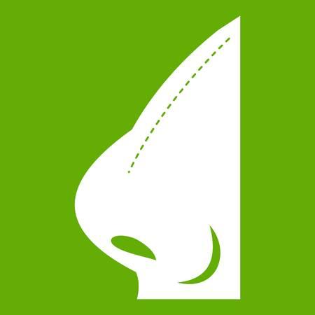Rhinoplasty of nose icon Vector illustration