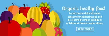 Organic healthy food banner horizontal concept