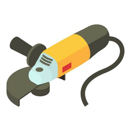 Electric sander icon. Isometric illustration of electric sander vector icon for web