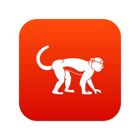 Macaque icon digital red for any design isolated on white vector illustration