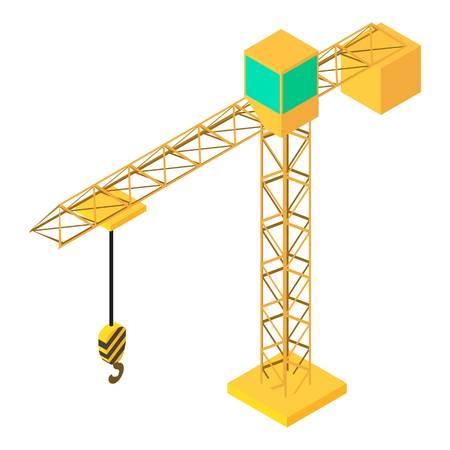 Building crane icon. Isometric illustration of building crane vector icon for web