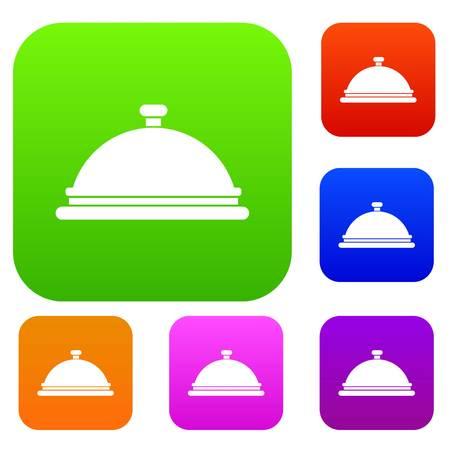 hotel staff: Restaurant cloche set collection
