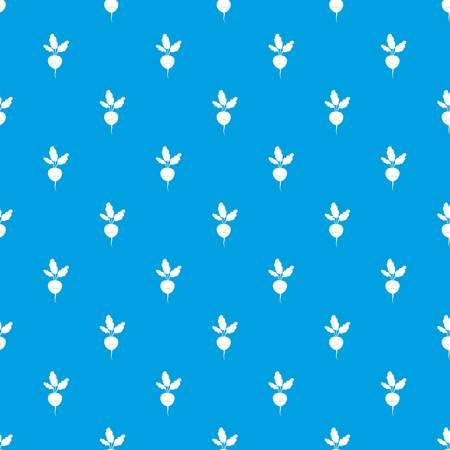 Fresh radish pattern seamless blue