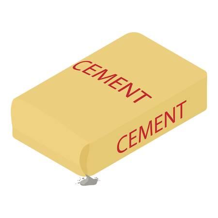 Icône de ciment, style 3d isométrique Vecteurs