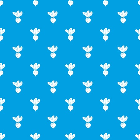 Fresh beetroot pattern seamless blue Illusztráció