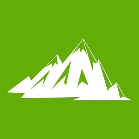 Canadian mountains icon green Illustration