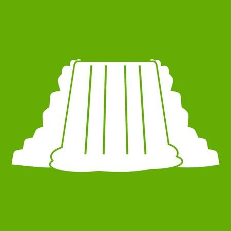 Niagara Falls icon green Illustration
