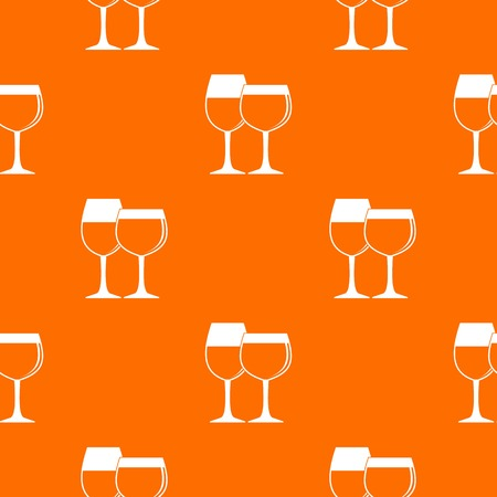 wineglass: Two glasses of wine pattern seamless