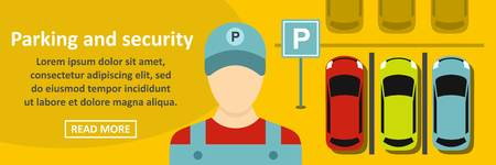 Parking and security banner horizontal concept