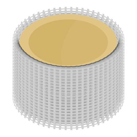 Metal grid icon. Isometric illustration of metal grid vector icon for web Illustration