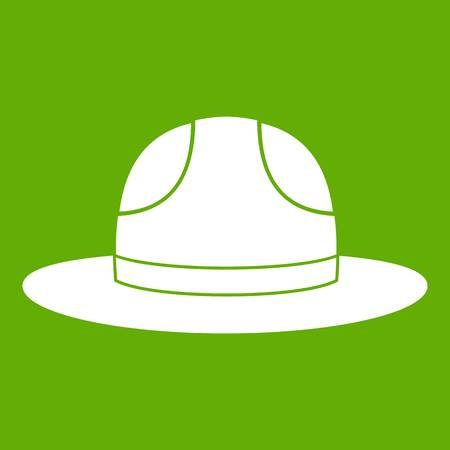 western town: Canadian hat icon green