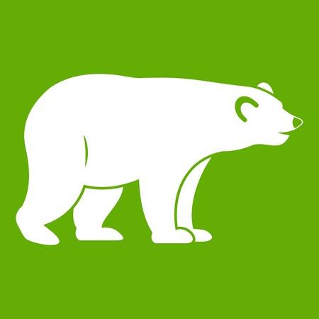 colorado rocky mountains: Wild bear icon green