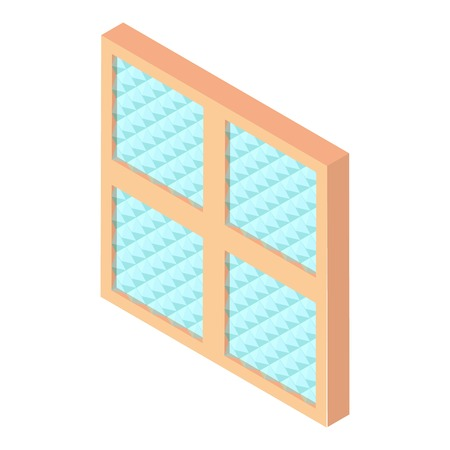 Square window frame icon, isometric 3d style