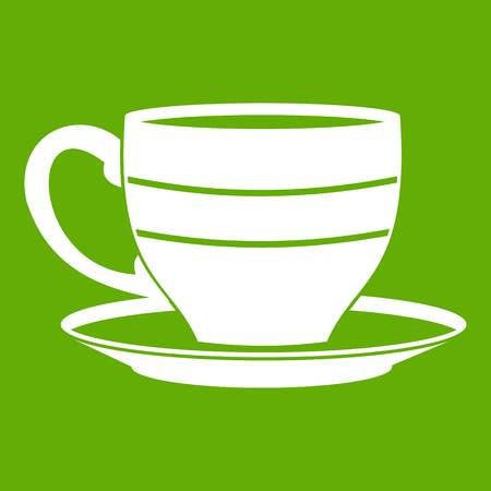 decaf: Cup icon green Illustration