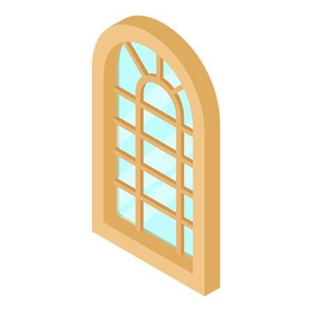 zinc: Palace window frame icon, isometric 3d style