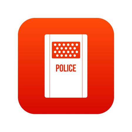Riot shield icon digital red for any design isolated on white vector illustration Illustration
