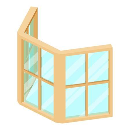 Facade window frame icon. Isometric illustration of facade window frame vector icon for web