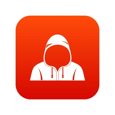 Hood icon digital red for any design isolated on white vector illustration