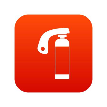 Fire extinguisher icon digital red for any design isolated on white vector illustration