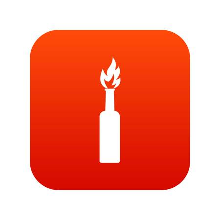 Burning bottle icon digital red for any design isolated on white vector illustration