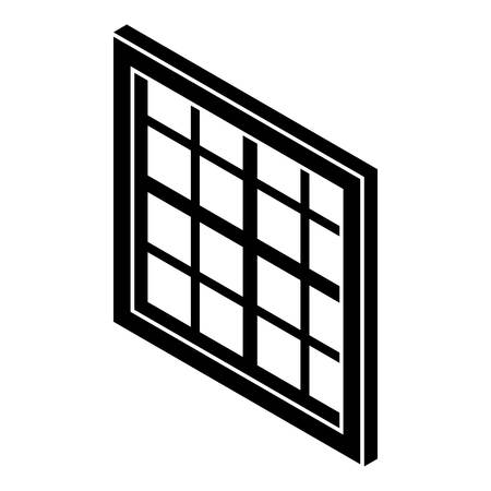 lattice window: Lattice window frame icon. Simple illustration of lattice window frame vector icon for web