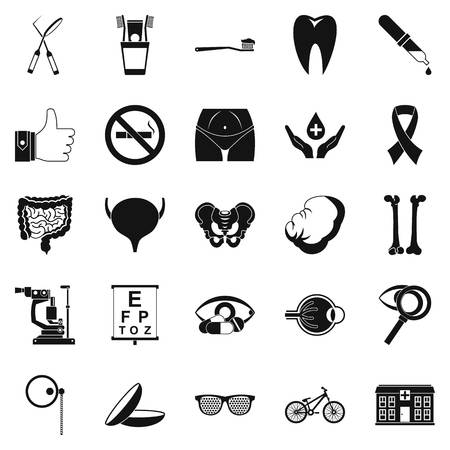 Internist icons set. Simple set of 25 internist vector icons for web isolated on white background Illustration