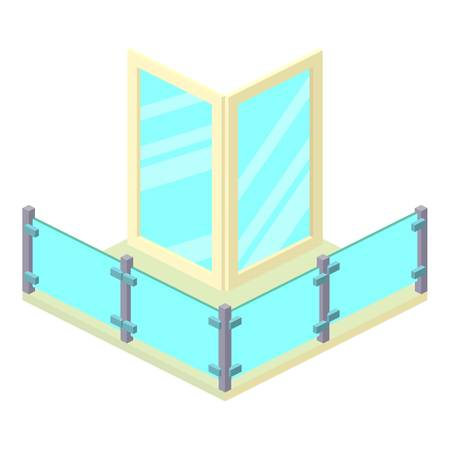 penthouse: Penthouse balcony icon. Isometric illustration of penthouse balcony vector icon for web