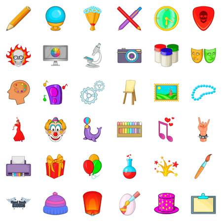 screen printing: Balloon icons set. Cartoon style of 36 balloon vector icons for web isolated on white background Illustration