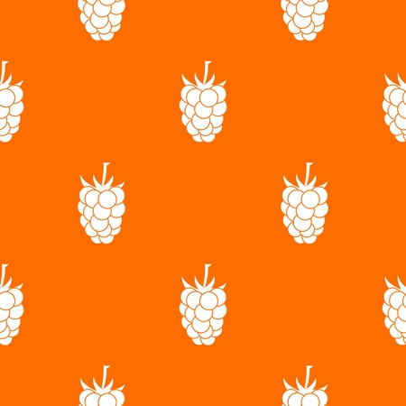 dewberry: fruit pattern repeat seamless in orange color for any design. Vector geometric illustration