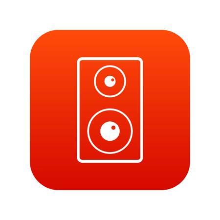 subwoofer: Subwoofer icon digital red for any design isolated on white vector illustration