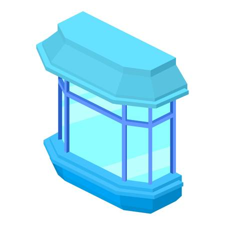 Modern balcony icon. Isometric illustration of modern balcony vector icon for web Illustration