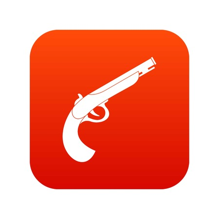 Gun icon digital red for any design isolated on white vector illustration Illustration