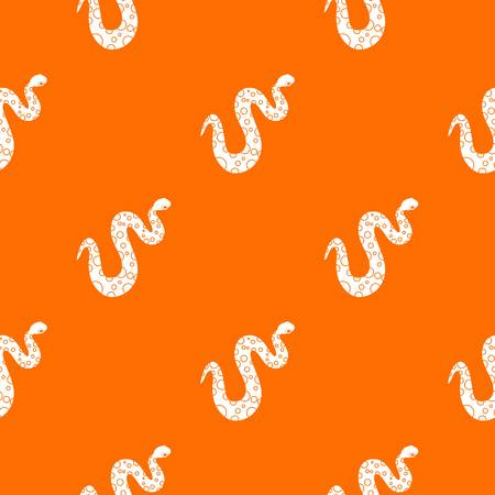 asp: Dotted snake pattern repeat seamless in orange color for any design. Vector geometric illustration Illustration