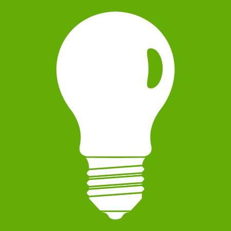 Lamp icon green vector illustration.